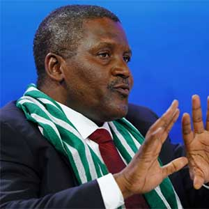 Nigeria's richest man, Aliko Dangote, co-chaired the World Economic Forum (WEF) Annual Meeting in Davos in 2014.